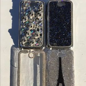 Lot Of 4 Galaxy Note 2 Bling Swarovski  Case Cover